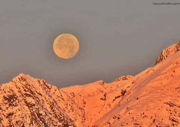 La luna sulla Forcora
