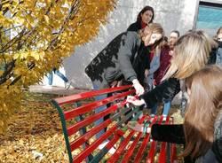 La panchina rossa all'università Insubria