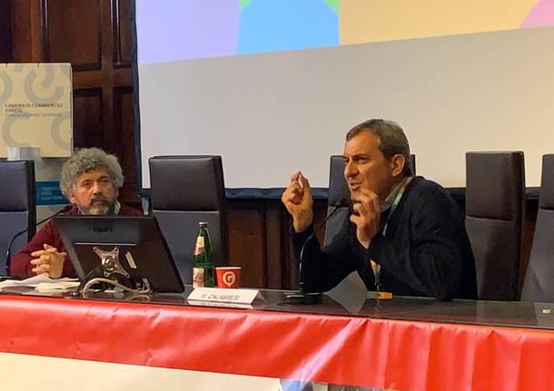 Mari Calabresi con Marco Giovannelli a Glocal