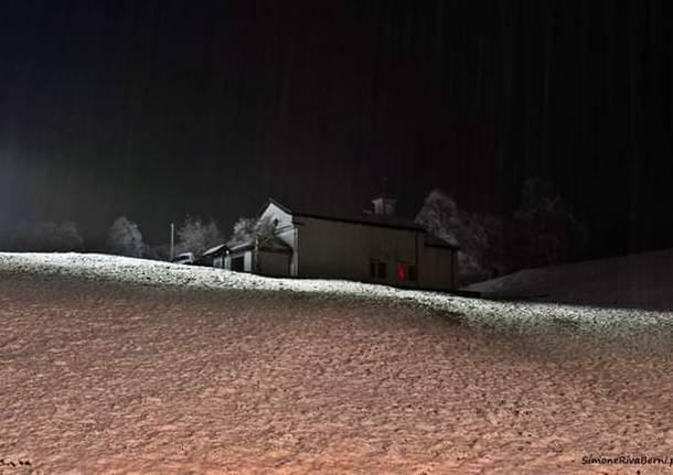 È arrivata la neve al Passo Forcora