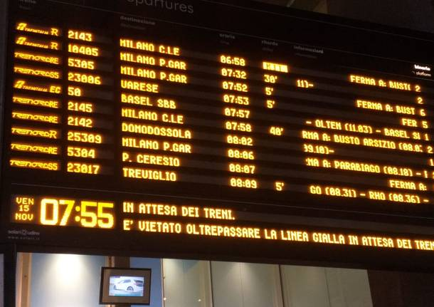 ritardo treni gallarate