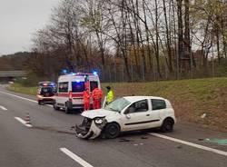 Solbiate Arno: incidente in A8