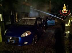 tre auto a fuoco busto arsizio incendio  2