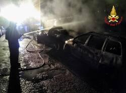 tre auto a fuoco busto arsizio incendio  3