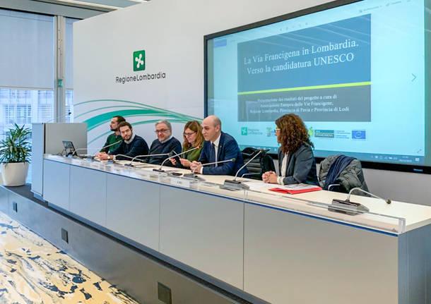 conferenza stampa regione lombardia via francigena