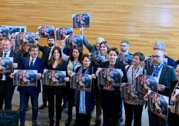 flash mob lega parlamento europeo isabella tovaglieri
