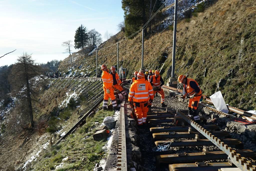 I lavori per la nuova ferrovia del Monte Generoso