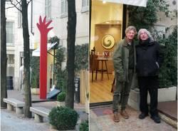 La scultura di Giuliano Tomaino in piazza Carducci