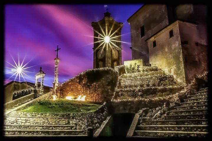 Luci di Natale al Sacro Monte
