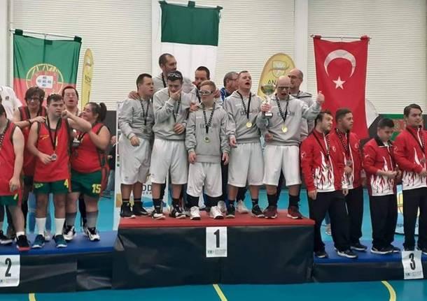 nazionale italiana di basket composta da ragazzi con sindrome di Down
