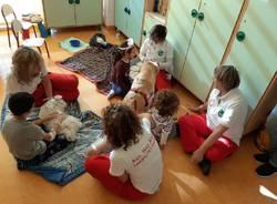 Pet therapy nel reparto di Pediatria dell'ospedale di Garbagnate