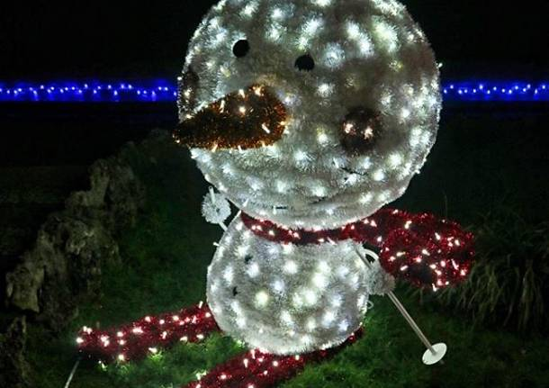 Varese: luminarie ai Gardini Estensi  Natale 2019 - foto di Luca Leone