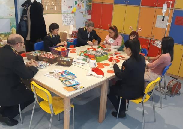 La polizia locale in visita alla pediatria di Varese