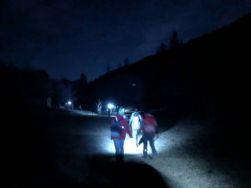 La camminata al chiaro di luna nei boschi del Campo dei Fiori
