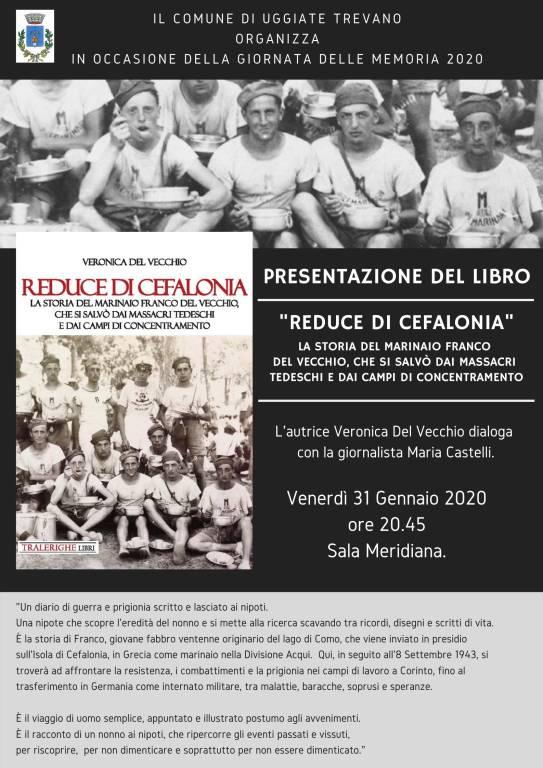 """Presentazione del libro \""""Reduce di Cefalonia\"""" di Veronica Del Vecchio"""