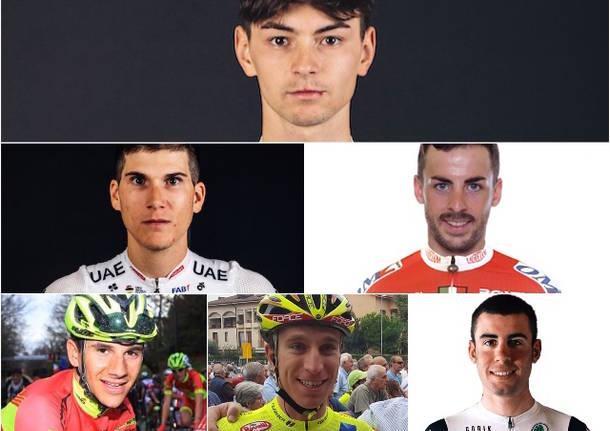 collage corridori ciclismo 2020