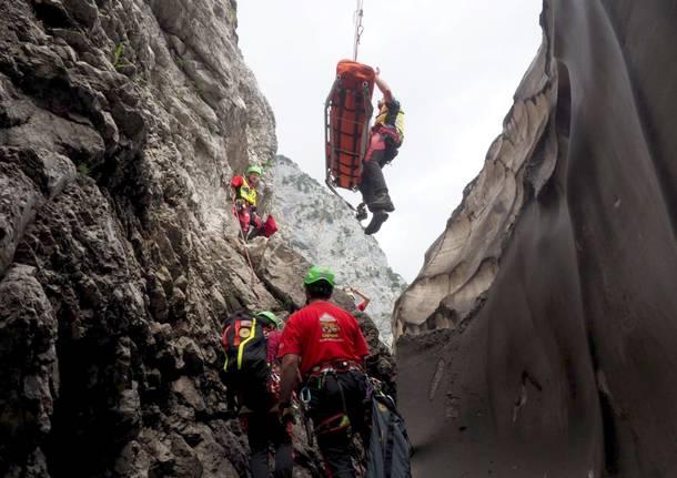 soccorso alpino intervento