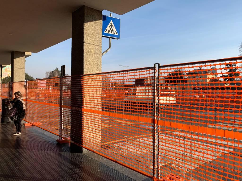 Il cantiere stazioni in viale milano