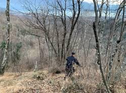 Il foto racconto di una mattinata nei boschi a caccia degli spacciatori