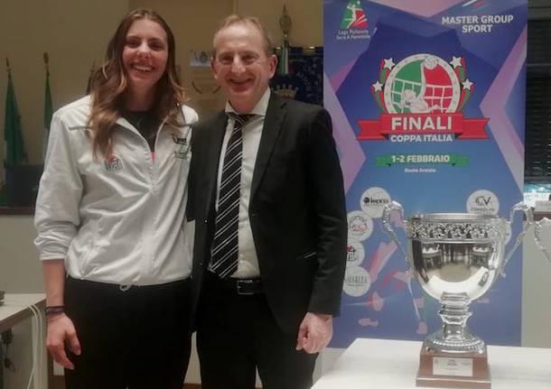presentazione final four pallavolo femminile busto arsizio 2020