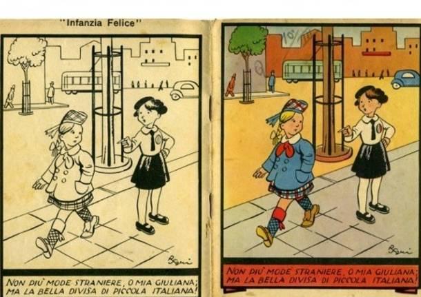 Quaderni e stampe per bambini del regime fascista