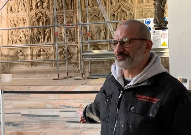 Restauri della cripta e del portale del Duomo al Sacro Monte