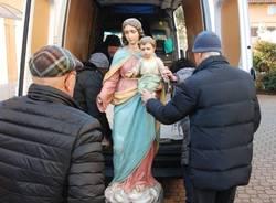 Restauro madonna Chiesa di Giubiano - Varese