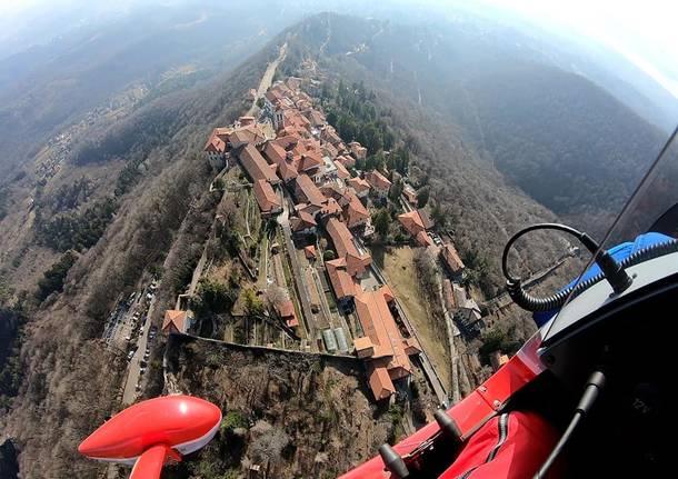 Il Sacro Monte dal cielo