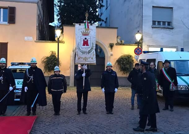 Polizia locale riunita a Saronno per la celebrazione di San Sebastiano