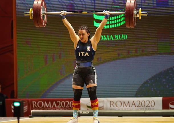 sollevamento pesi giorgia bordignon coppa del mondo roma 2020
