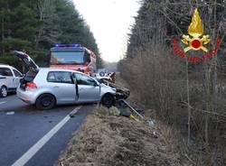 Valganna - Incidente stradale
