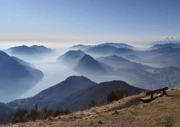 Valli tra Italia e Canton Ticino dal Monte Boglia - foto di Flavio Tamiazzo