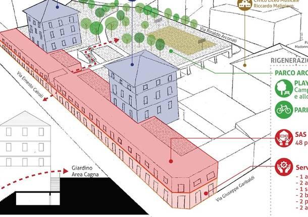 Il progetto di campus diffuso a Biumo InferioreIl progetto