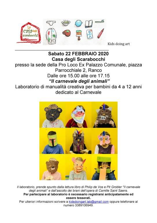IL CARNEVALE DEGLI ANIMALI - Laboratorio di manualità creativa dedicato al Carnevale