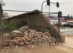 Crollo muro di cinta parco Bassetti