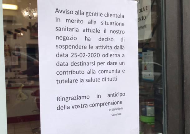 Diversi negozi cinesi chiusi a Saronno