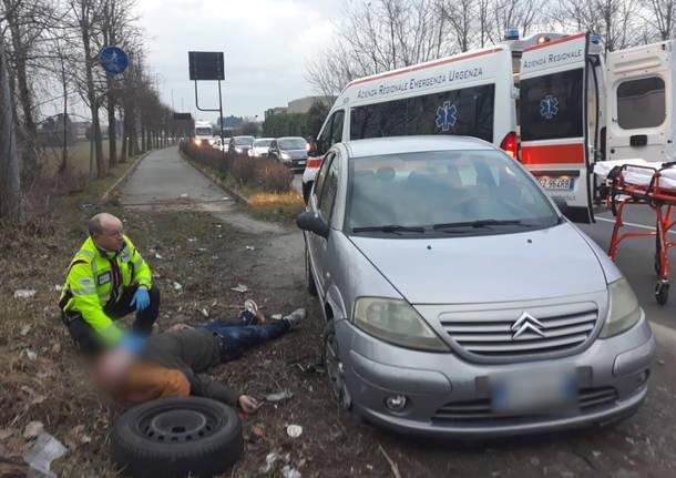 malore auto incidente stradale soccorsi