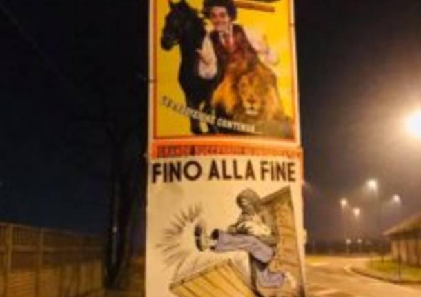 "Centopercentoanimalisti ""oscura"" alcuni manifesti circensi affissi a Saronno"