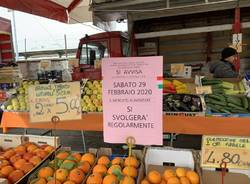 """""""Il mercato alimentare è aperto sabato a Varese"""""""