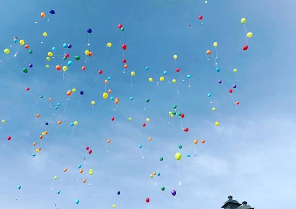 Gerenzano a Gualdo Tadino: un volo di 500 km per i palloncini di Tommaso