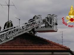 Incendio ad un'abitazione di Cassano Magnago