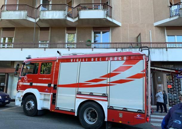 Incendio in una palazzina di Solbiate Arno