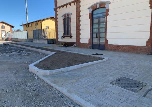 Lavori alla stazione di Gazzada Schianno