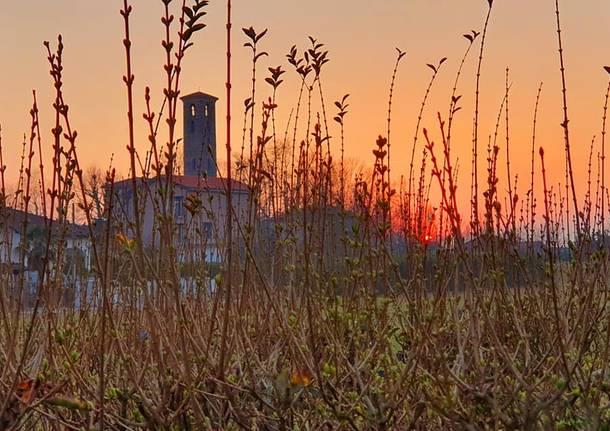 Casciago, magico tramonto a Sant'Eusebio
