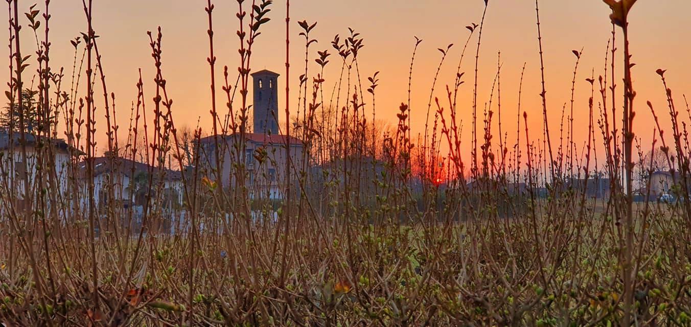 Magico tramonto a Casciago (foto di Clara Comolli)