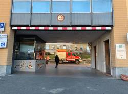 Maltempo all'ospedale di Luino