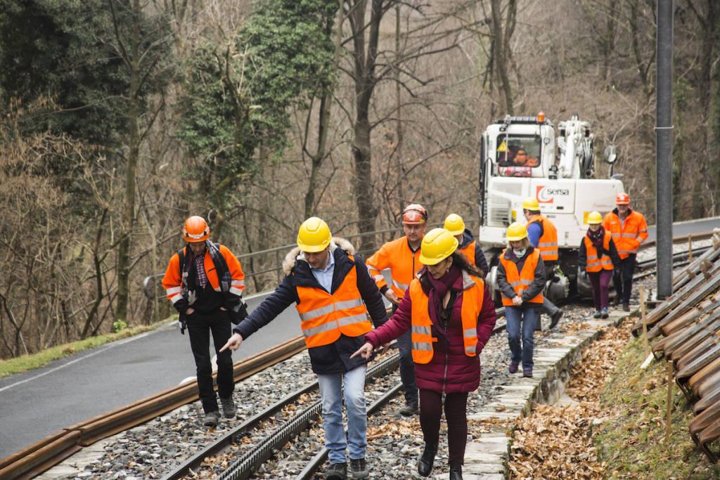 Monte Generoso -Le immagini della visita al cantiere della ferrovia
