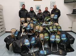 sequestro racchette da tennis