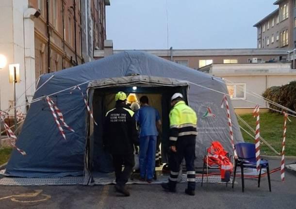tenda ospedale novara vconews