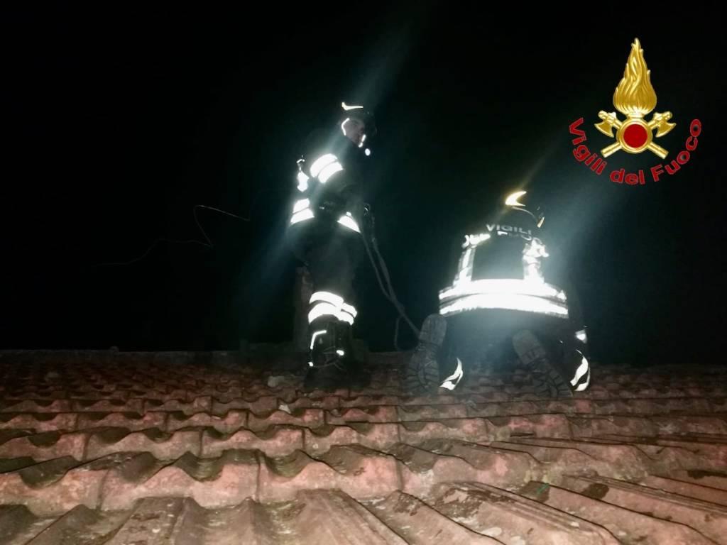 Vento - interventi Vigili del fuoco 5 febbraio 2020